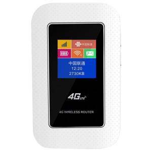 4G Router WiFi LTE MiFi Router Modem with SIM Card Slot and Battery V4G555M